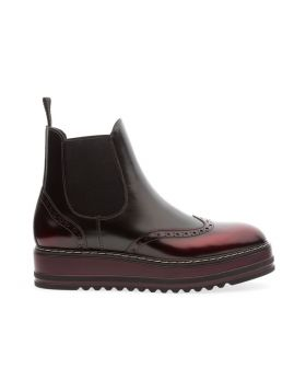 Soldini 20361-Z08 Women's Lead-Burgundy Chelsea Boot