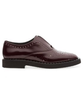 Soldini 20289-Z38 Women's Burgundy Slip On Oxford