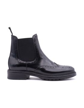 Chelsea Boot Brouge Donna in pelle lucida
