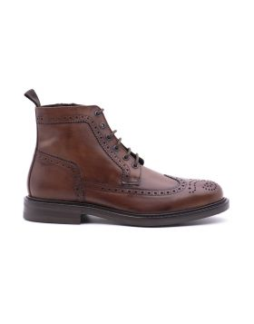 Stivaletto Uomo Brogue in pelle