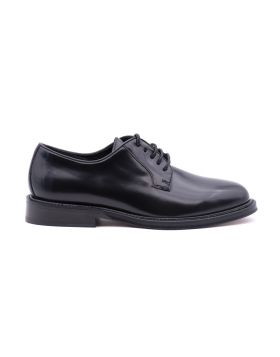 Derby man in leather  leather sole
