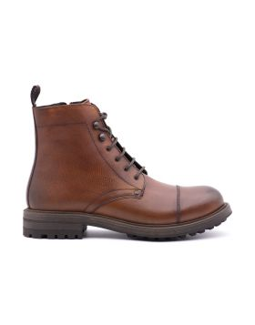 _x000D_Men's ankle boot in hand-aged leather