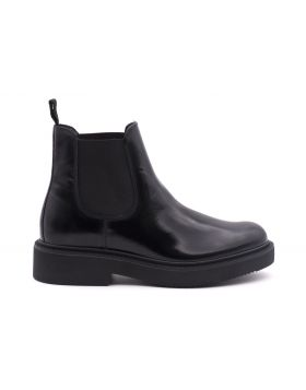 Chelsea Boot Woman in leather-NERO-NRO-35