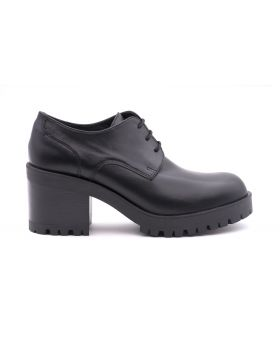 Patent Women's Derby in leather -NERO-NRO-35