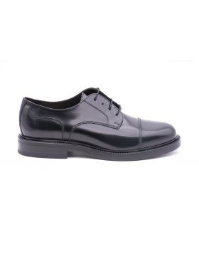 Men's Derby with Leather Sole-NERO-NRO-39