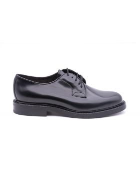 Men's Derby Plain with Leather Sole-NERO-NRO-39