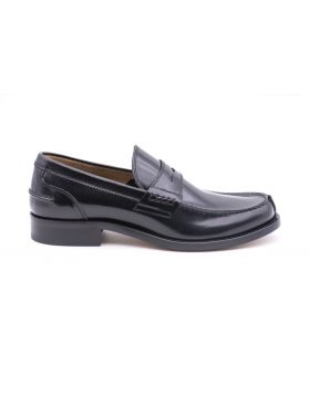 Mocassin Man in Leather Sole Leather-NERO-NRO-39