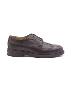 Men's Derby Full Brogue with Rubber Sole-TESTA DI MORO-TDM-39