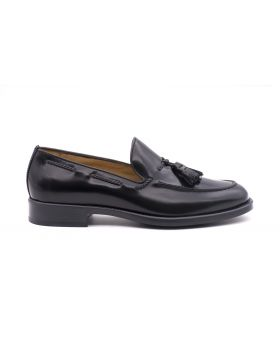 Men's Tassel Loafer with Rubber Sole-NERO-NRO-39