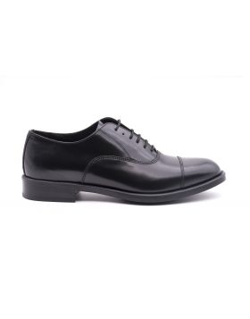 Mens Oxford in shiny leather -NERO-NRO-39