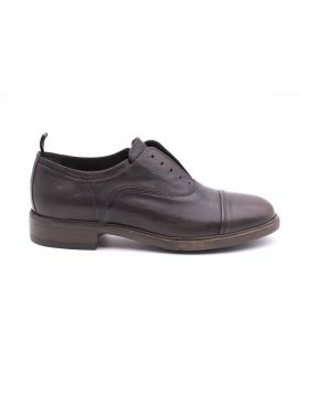 Men's Slip on  in hand-aged leather-EBANO-EBN-39
