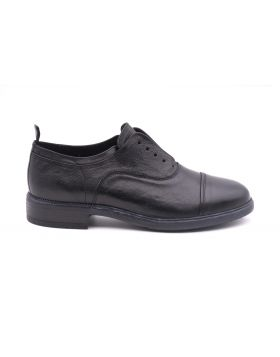 Men's Slip on  in hand-aged leather-NERO-NRO-39