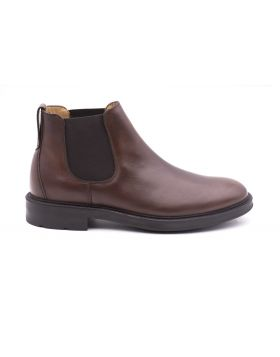 Men's Chelsea leather ankle boot-MARRONE-MRR-39