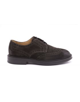 Men's Derby Full Brogue with Rubber Sole-EBANO-EBN-41