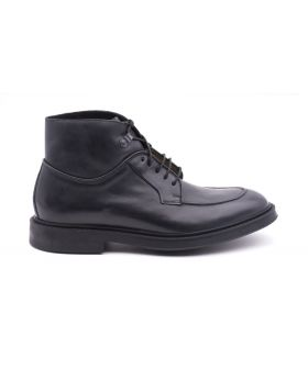 Men's ankle boot in hand-aged leather-NERO-NRO-39