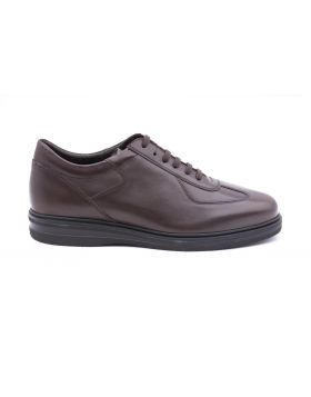 Men's snekaer leather rubber sole