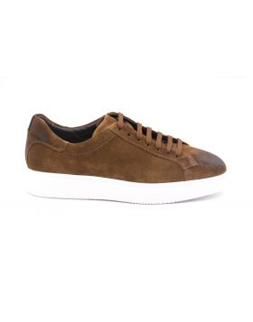 Men's leather sneaker-COGNAC-CGN-39
