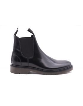 Men's Chelsea leather ankle boot-NERO-NRO-39