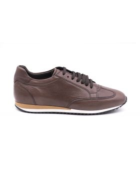 Men's leather sneaker rubber sole