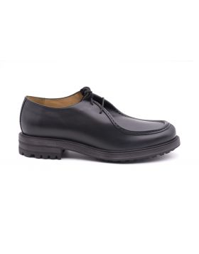 Men's shoes leather with Rubber Sole-NERO-NRO-39