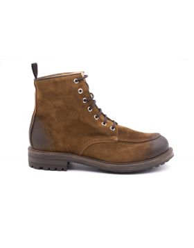 Men's ankle boot in hand-aged leather-COGNAC-CGN-40