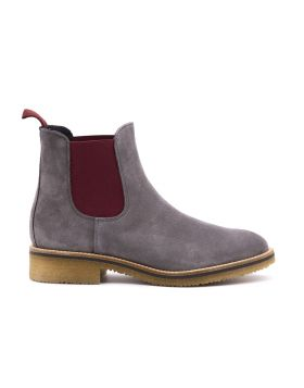 Chelsea Boot Women's suede and contrast elastic