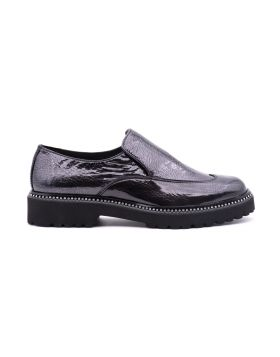 Slip on Donna in vernice laminata suola EVA