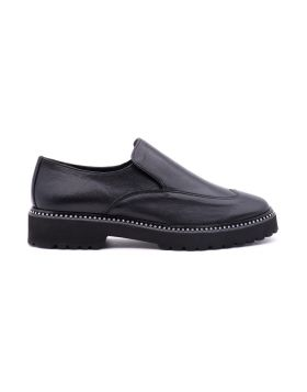 Slip on Donna in pelle lucida suola EVA
