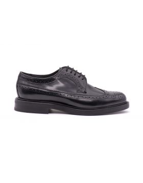 MEN'S DERBY FULL BROGUE WITH LEATHER SOLE