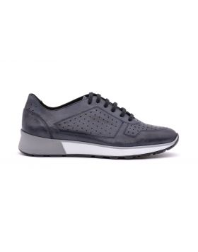 MEN'S MESH LEATHER SNEAKER