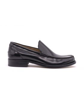 MEN'S PLAIN LOAFER WITH LEATHER SOLE