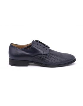 MEN'S DERBY WOVEN  WITH RUBBER SOLE-BLU