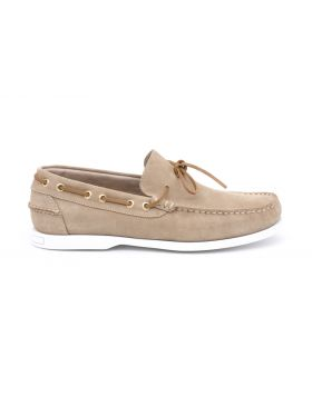 MEN'S BOAT LOAFER SUEDE RUBBER SOLE