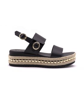 WOMAN'S LEATHER SANDAL PLATFORM